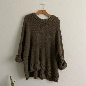Aerie Wool Blend Olive Oversized Sweater